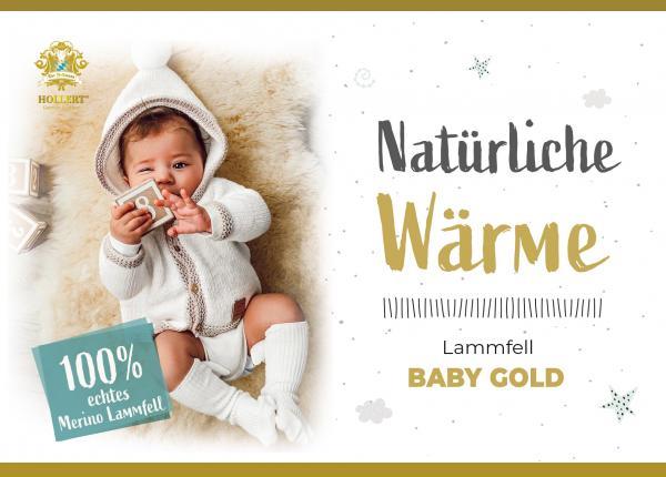 Baby Lammfell waschbar ökologische Gerbung 80-90 cm