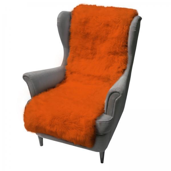 Lammfell Sesselauflage 160 x 50 cm Orange