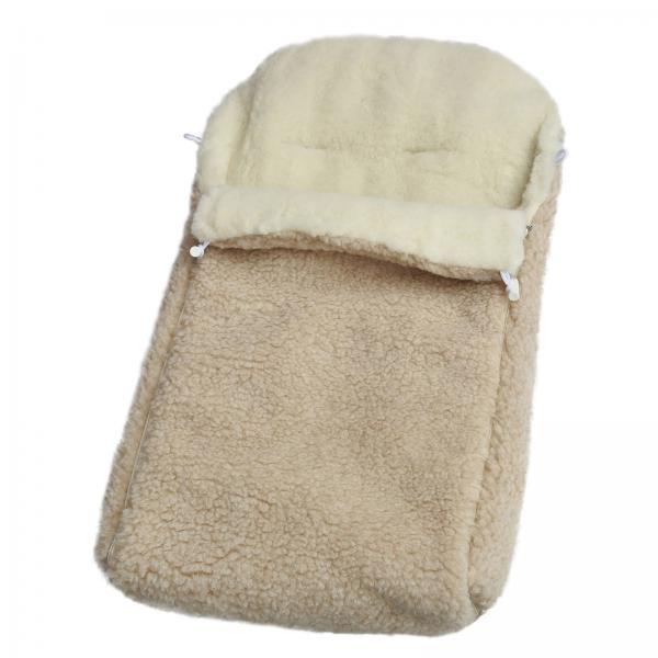 Kinderwagenfußsack Komfort aus Wolle