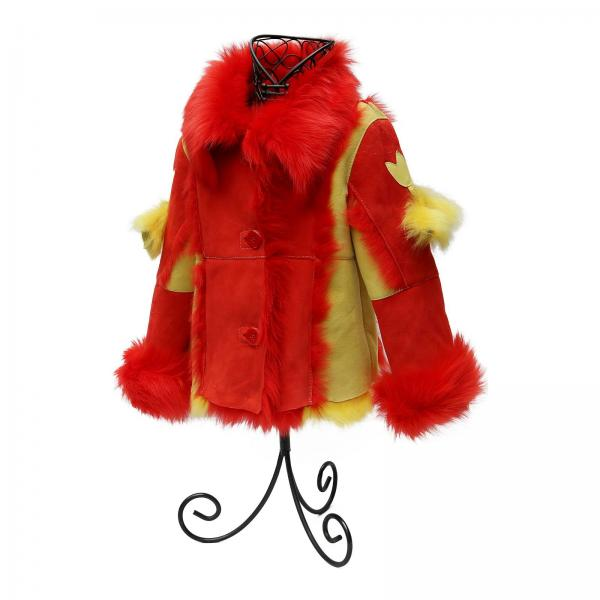 Baby lammfell mantel