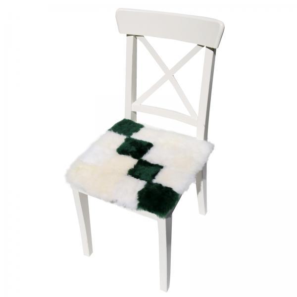 Lammfell Sitzkissen 40 x 40 Cube Muster 1