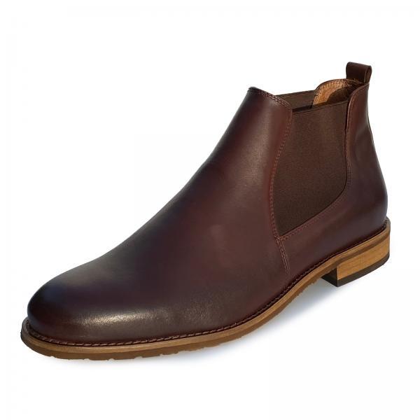 Lederschuhe Chelsea Boots - Modell 702 Dunkelbraun