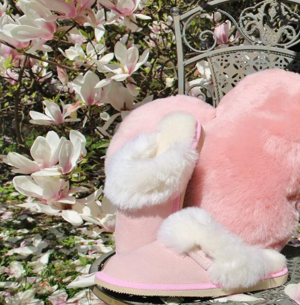 Lammfell Pantoffeln Malibu Rosa B-Ware