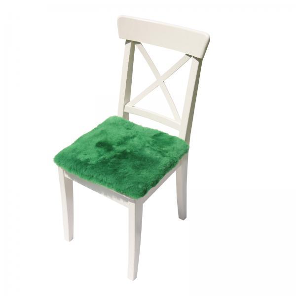 Lammfell Sitzkissen 40 x 40 cm Apfelgrün