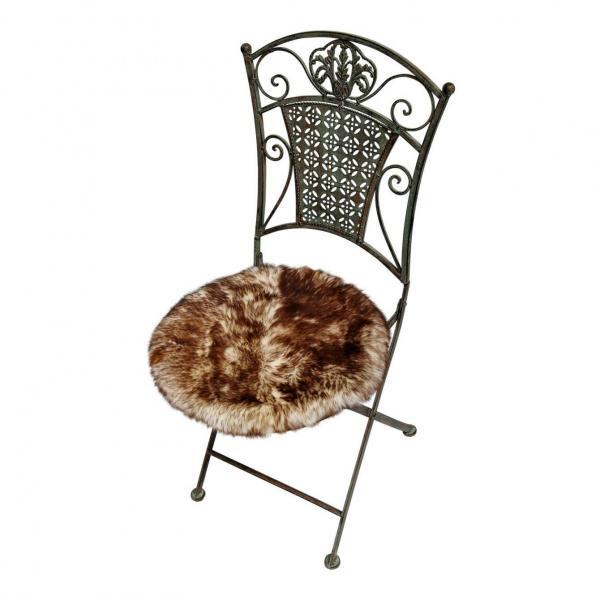 lammfell sitzkissen stuhlauflage rund 40 cm der fellmann naturfellprodukte. Black Bedroom Furniture Sets. Home Design Ideas