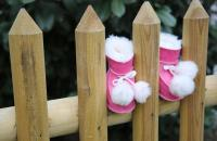 Baby Lammfellschuhe - PUMMELCHEN EUR 16/17 - Pink