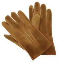 Lammfell Herren Fingerhandschuhe - TED XL Safran