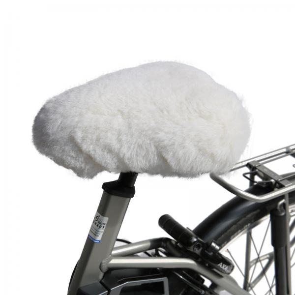 Bicycle seat cover White