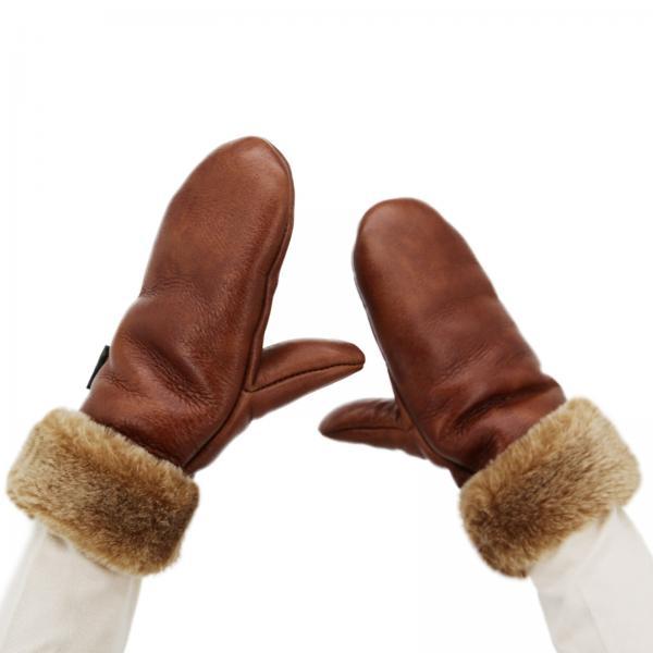 Sheepskin Gloves Neve Brown