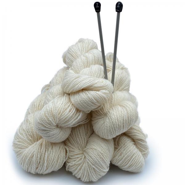 Strickwolle Schafwolle Weiß 1kg