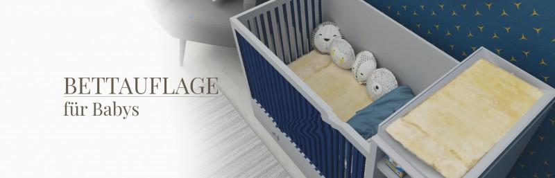 Lammfell Auflagen Kinderbett