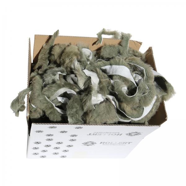 Lammfell BASTELFELLE 1,5 kg OLIVGRÜN