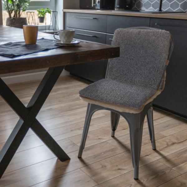 Poduszka na siedzisko wykonana z naturalnej wełny 40x80