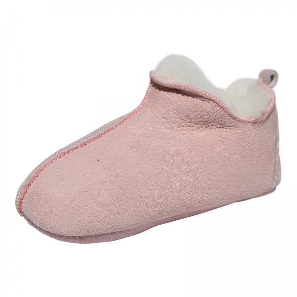 Lammfell Kinder Hausschuhe - BALI Rosa