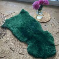 Lammfell Moosgrün geschoren 90-100