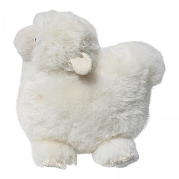 Pluszak owieczka ze skóry owczej z merynosa
