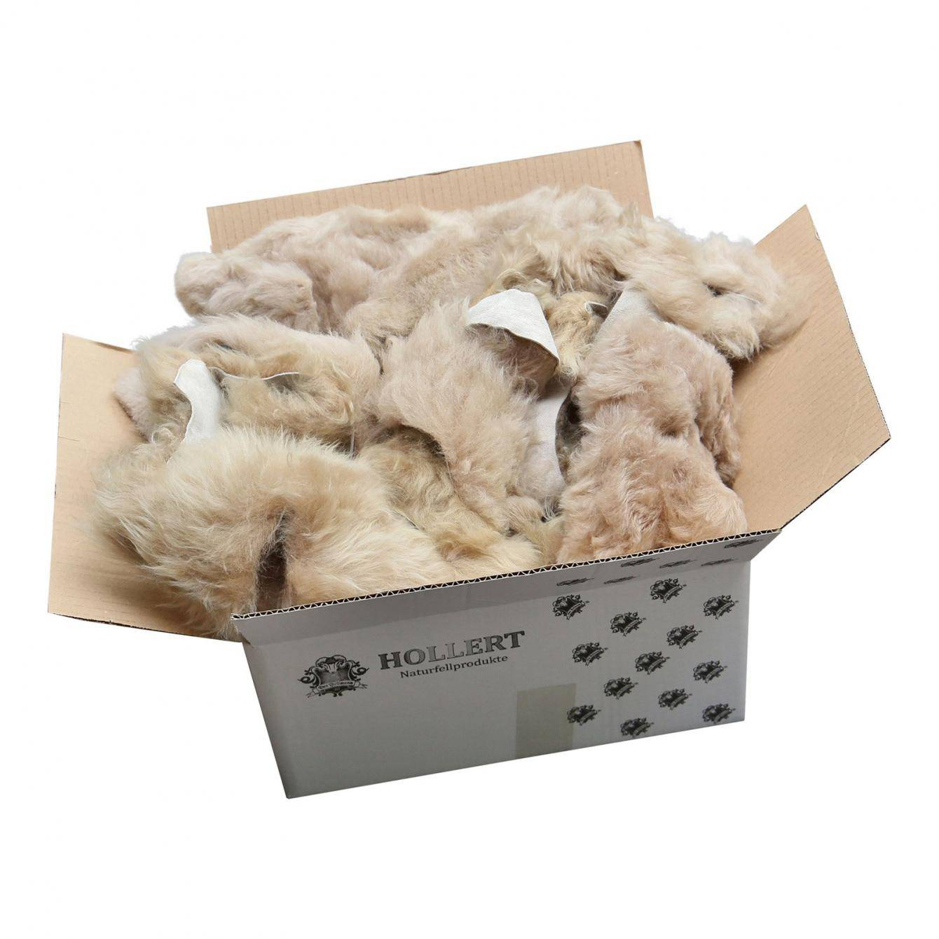 Lammfell - BASTELFELLE 1,5 kg