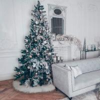 Weihnachtsbaum Rock aus Merino Lammfell
