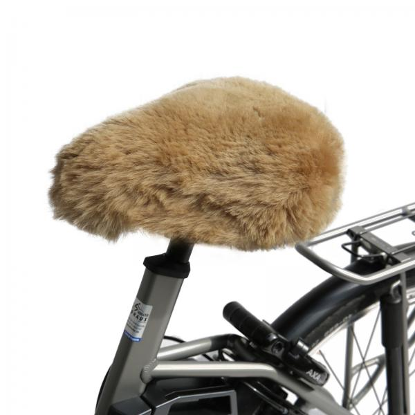 Bicycle seat cover Cappuccino