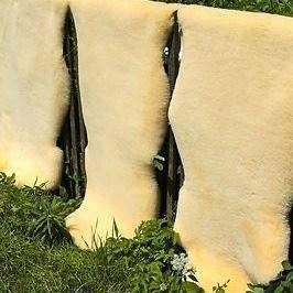 Schaffell waschbar ökologische Gerbung XXL 120-130 cm