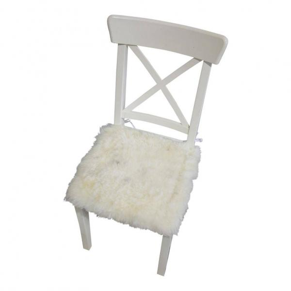 Lammfell Sitzkissen 2. Wahl 40 cm x 40 cm