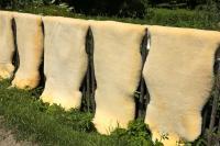 Schaffell Lammfell waschbar ökologische Gerbung 110-120 cm
