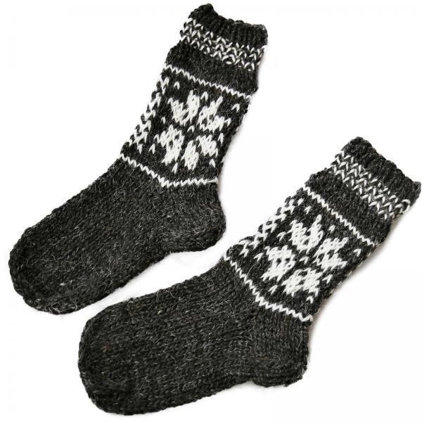 Handgestrickte Socken aus 100% Schafwolle 1 Stern Modell 3