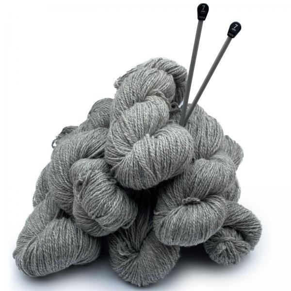 Strickwolle Schafwolle Grau 1kg