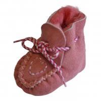 Baby Lammfellschuhe Herzchen Rosa EUR 22/23