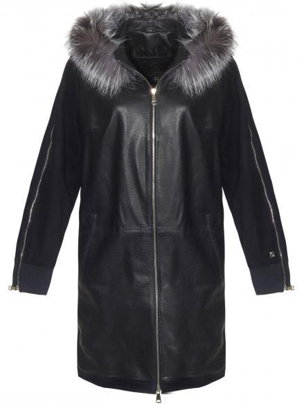 Leather coat - IZERA
