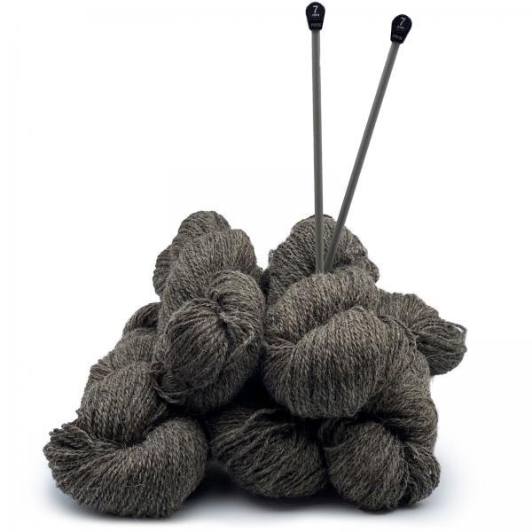 Strickwolle Schafwolle Dunkelgrau 1kg