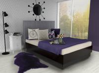 Premium Merino Lammfell Schaffell Violett geschoren 90-100