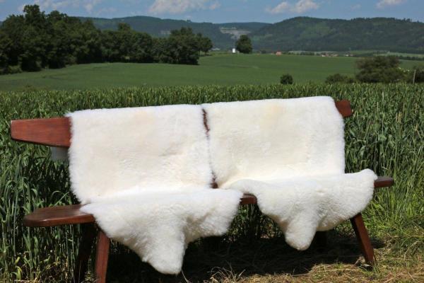 Lammfell geschoren - NATUR FARBEN