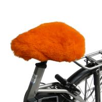 Lammfell Fahrradsattelbezug Orange