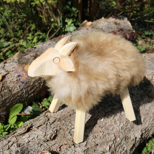 Drewniana owca Paul Coburger skóra jagnięca Model 43
