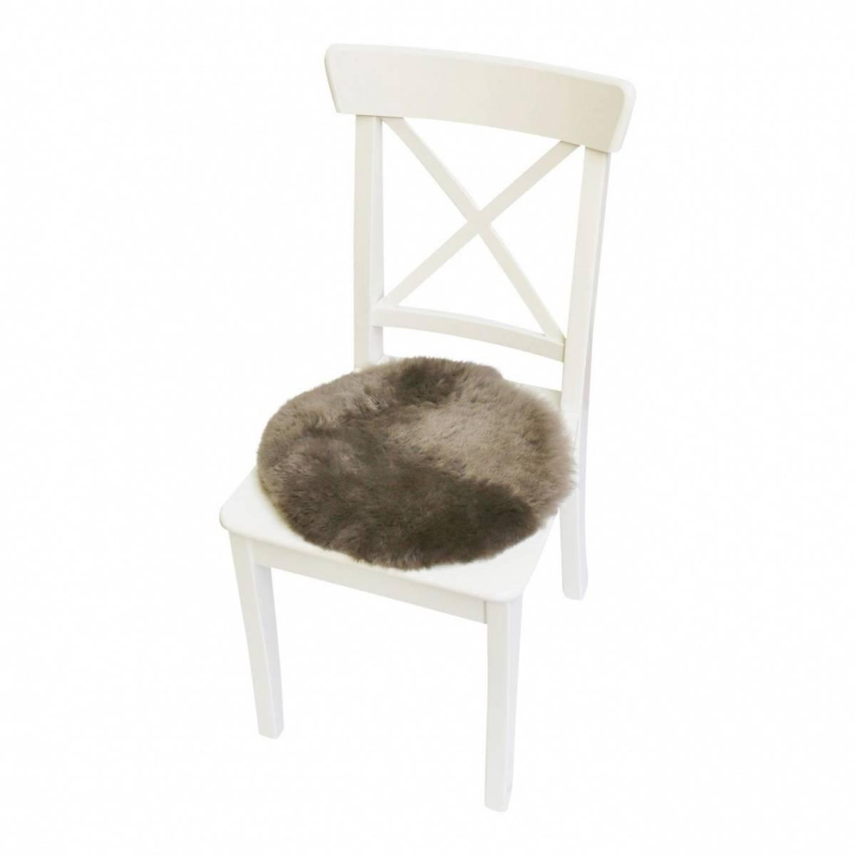 lammfell sitzkissen stuhlauflage rund 35 cm. Black Bedroom Furniture Sets. Home Design Ideas