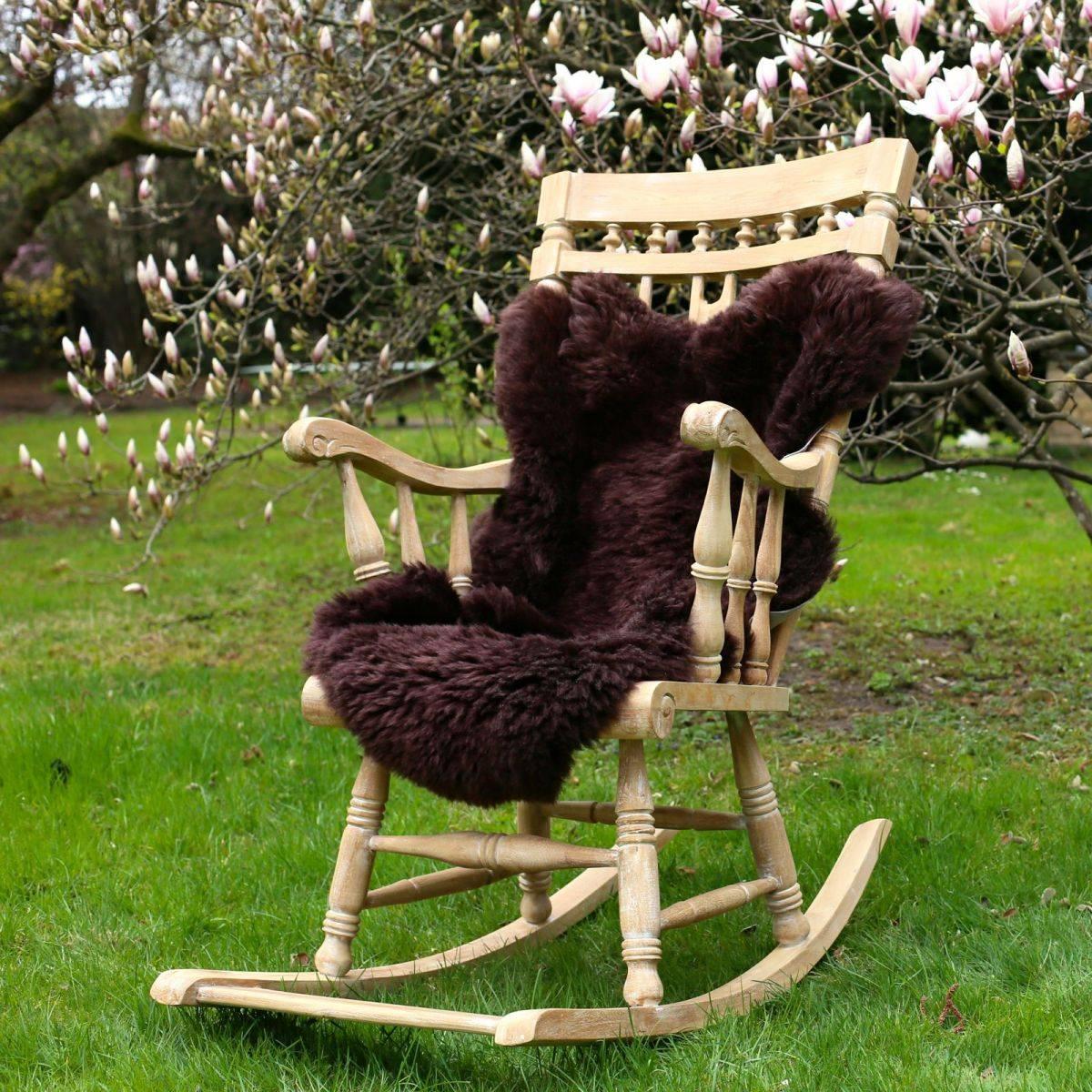 Pelle pecora tosato viola colori merino runner - Cuscino per sedia viola ...