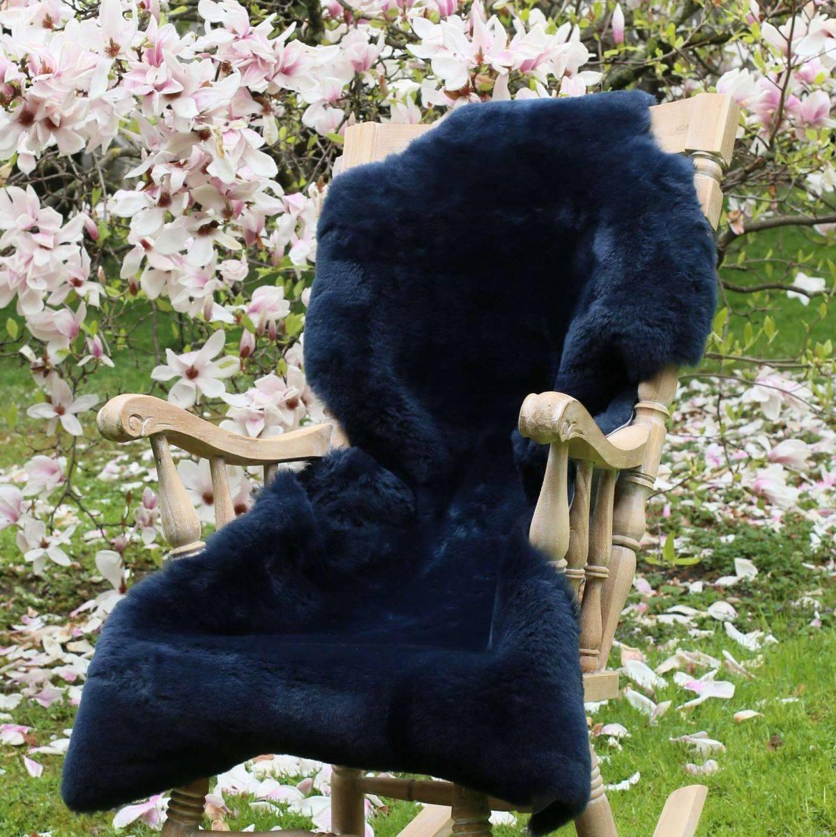 lammfell geschoren blau farben merino schaffell. Black Bedroom Furniture Sets. Home Design Ideas