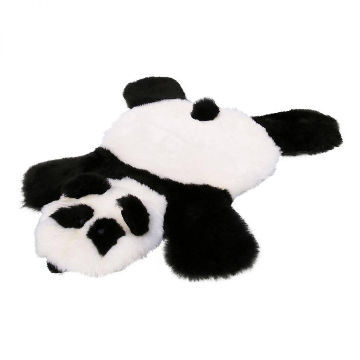 Lammfell  TEPPICH FÜR KINDER PANDA Fellteppich Bären